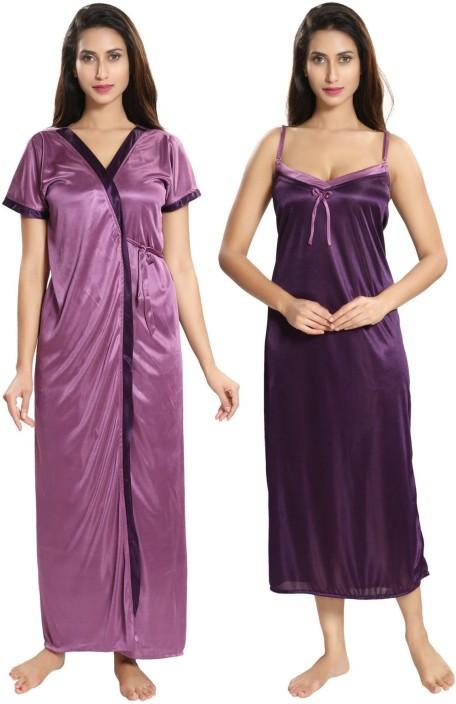 e27087b0ab0 Two dots women nighty with robe buy dark wine two dots women jpeg 456x704  Rubber nighty
