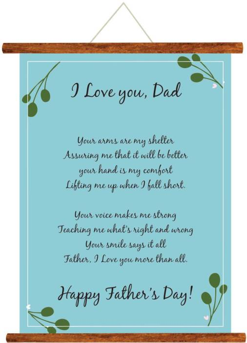 Giftsmate Fathers Day Greeting Cards Happy I Love Dad Message Scroll Card For