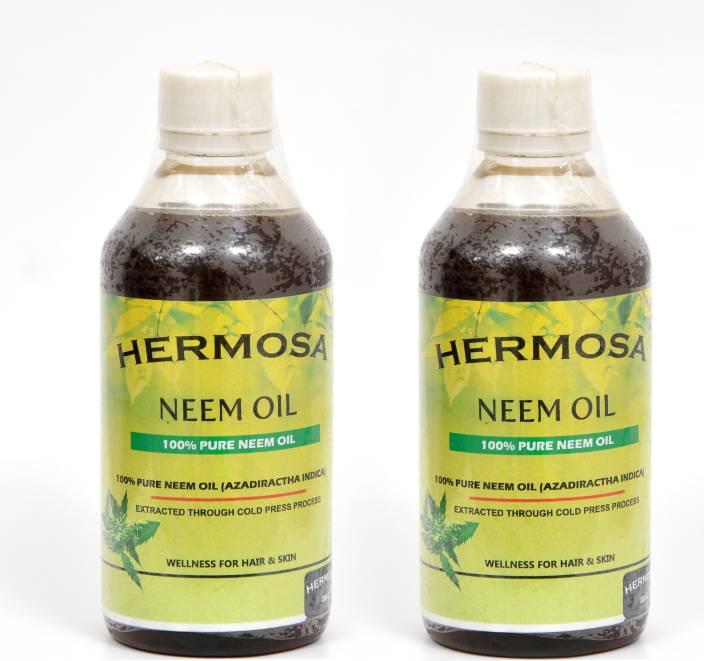 HERMOSA Pure Neem Oil- 600ML Hair Oil - Price in India, Buy