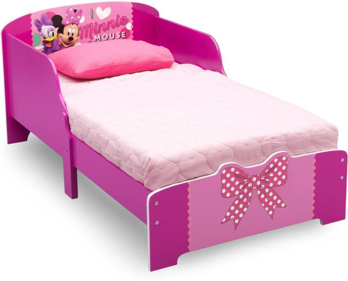 Disney Minnie Mouse Toddler Engineered Wood Single Bed Price In