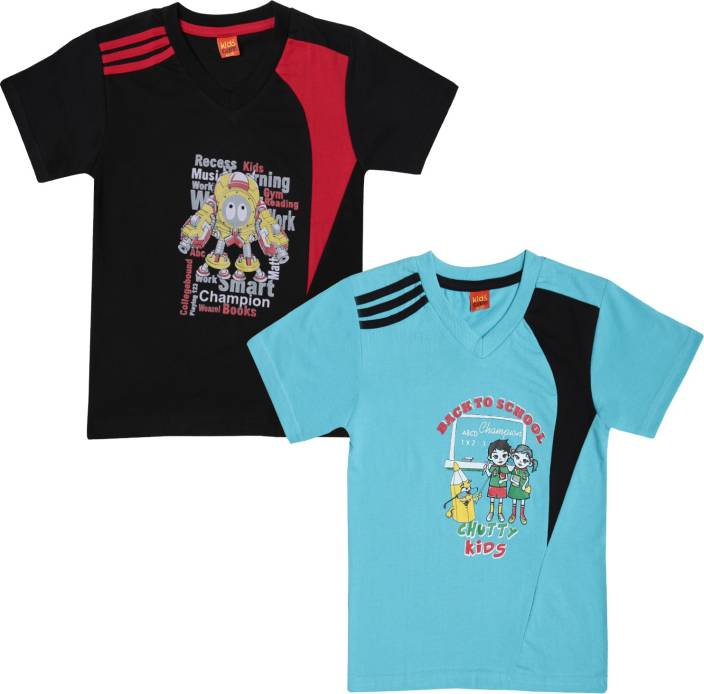 19849059cf75 Dollar Champion Kidswear Boys Printed Polyester Cotton Blend T Shirt  (Multicolor