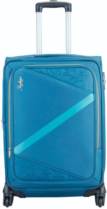 97d63d247ffd Skybags Spotlight 4W Exp Strolly (H) 55 Expandable Cabin Luggage - 21 inch  (Blue)