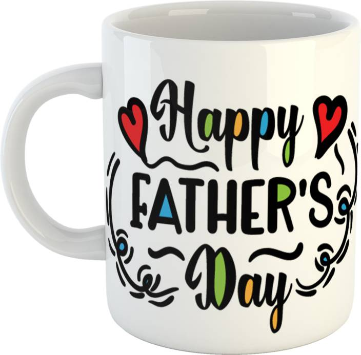 GiftOwl Best Of Gift For Dad Father Happy Fathers Day White Coffee 330 Ml