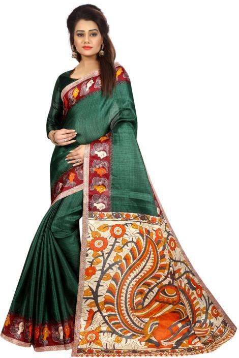08f2e1599 Buy V J Fashion Printed Fashion Art Silk Multicolor Sarees Online ...