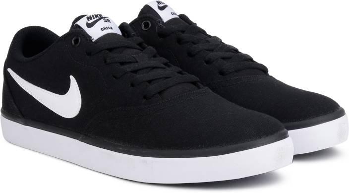 official photos c7c45 ed42c Nike NIKE SB CHECK SOLAR CNVS Sneakers For Men (Black)