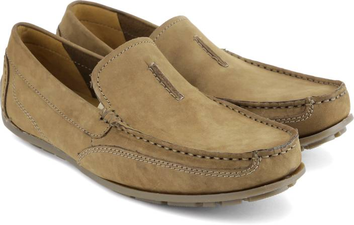 35c1a142fe1e Clarks Benero Race Loafers For Men - Buy Tan Nubuck Color Clarks ...