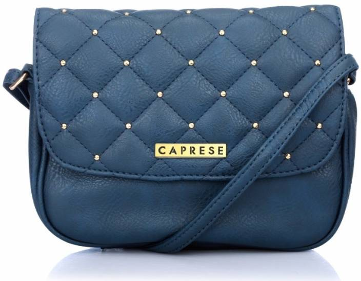 59d71bfa4 Caprese Women Casual Blue Leatherette Sling Bag Blue - Price in India