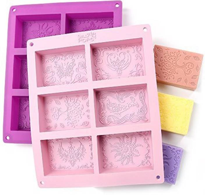 d5740abc1c440 The Silly Pops Rectangle Silicone Soap Molds - Set Of 2 For 12 ...