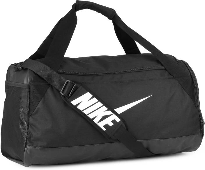 799508cb635a Nike NK BRSLA M DUFF Travel Duffel Bag BLACK BLACK WHITE - Price in ...