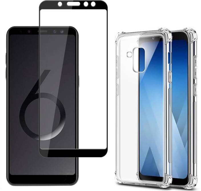 low priced 4b469 bb3e2 Mowear Back Cover for Samsung Galaxy J6 Back Cover with Tempered Glass