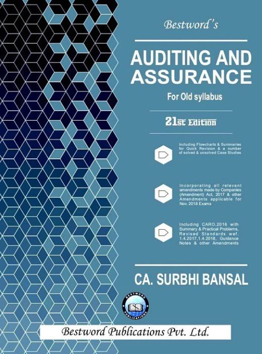 Bestword CA IPCC Auditing and Assurance for Old Syllabus By