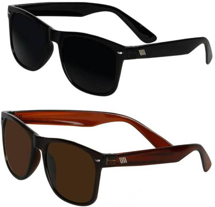 917b92edea87d Buy David Martin Wayfarer Sunglasses Black