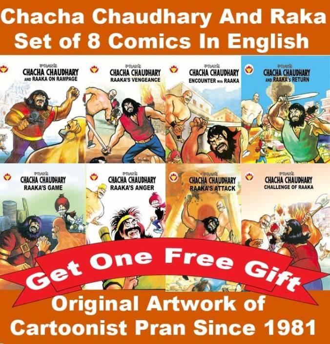 Chacha Chaudhary Comics Collection Of 8 Comics Of Raka In