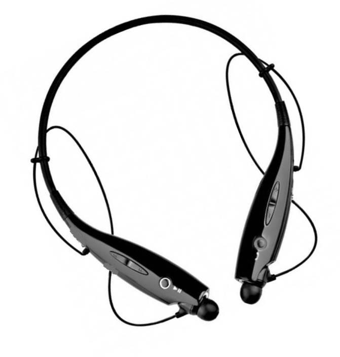 8820348e937 BERRIN HBS-730 Neckband Bluetooth Headphones Wireless Sport Stereo Headsets  Handsfree with Microphone for Android Devices Bluetooth Headset with Mic  (Black, ...