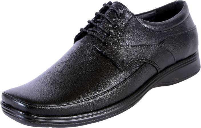89f94fb2b02 Leathersofty Leathersofty Men Black Leather Formal + office shoes Derby For  Men