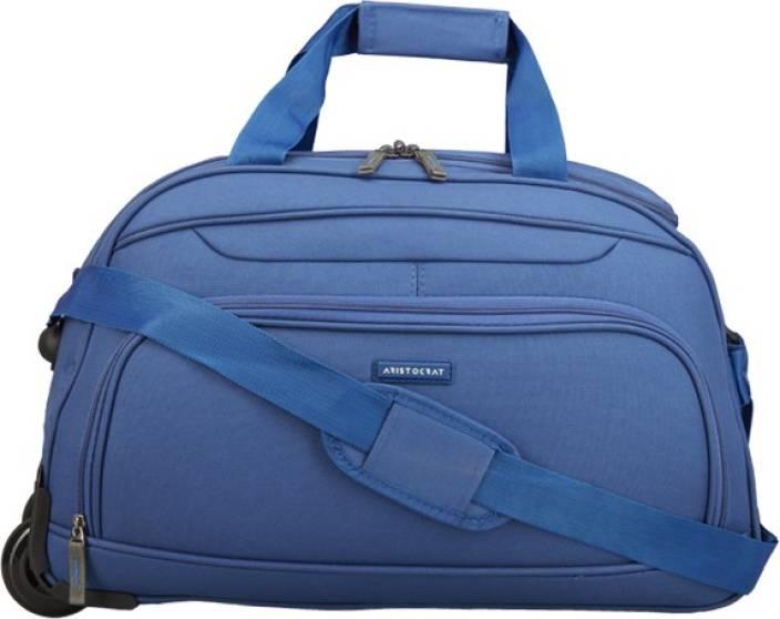 54de8c35822c Aristocrat DART DUFFLE TROLLY (H) 55 BLUE Duffel Strolley Bag Blue ...
