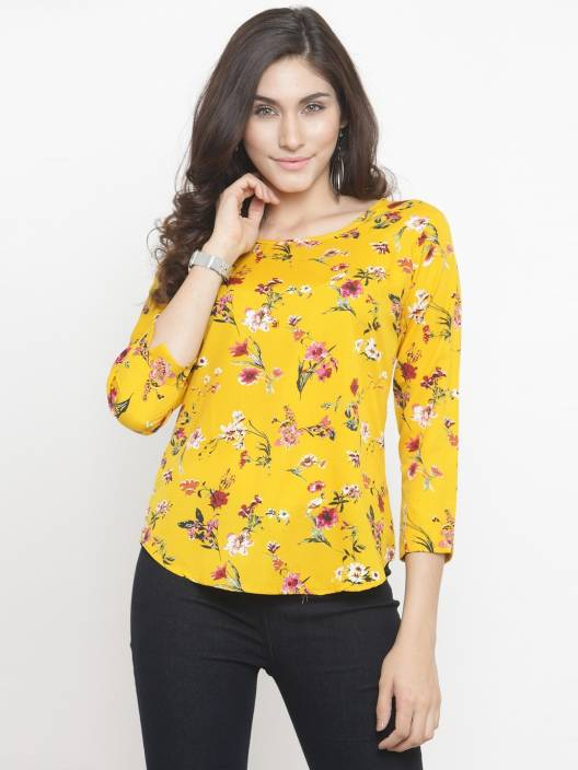 DARZI Casual 3/4th Sleeve Printed Women's Multicolor Top