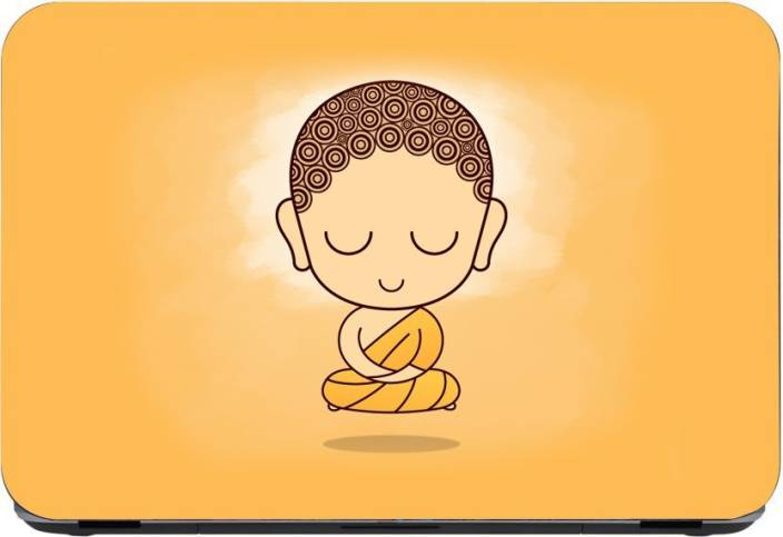 Flipkart SmartBuy Baby Meditating Buddha 3m or avery imported vinyl woith  lamination Laptop Decal 15 6