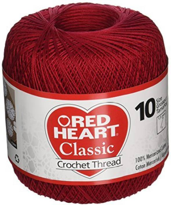 Coats Crochet Red Heart Classic Crochet Thread Size 10 Victory Red