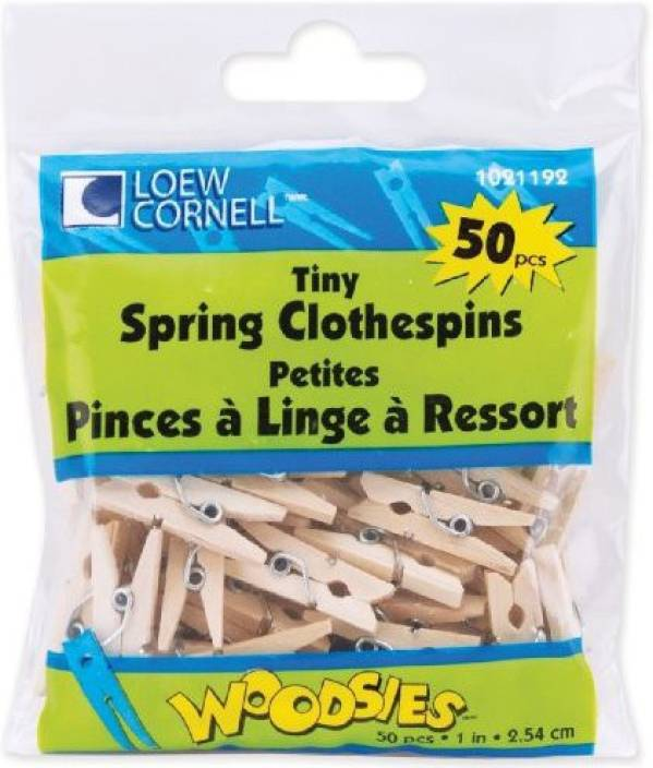 Loew Cornell Simply Art Wood Tiny Spring Clothespins