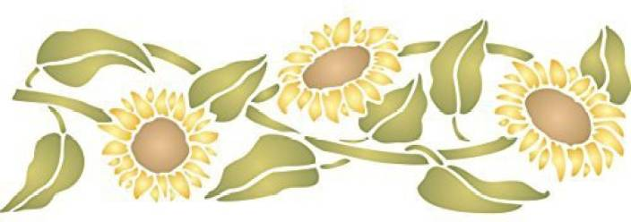 Generic Sunflower Stencil - (Size 20 5