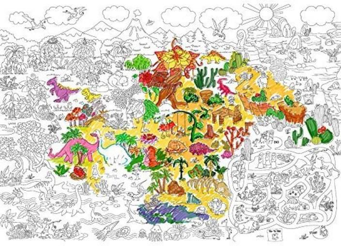 Jar Melo Super Painter; Giant Coloring Poster; Prehistoric Era ...