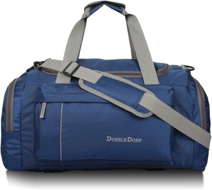 Dussledorf Navy Blue Travel Duffle Bag Travel Duffel Bag