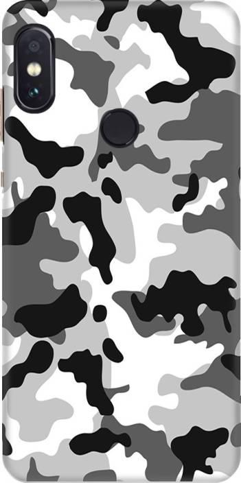 ca535ee62c Coberta Case Back Cover for Mi Redmi Note 5 Pro (Black And White Camouflage  Design, Plastic)