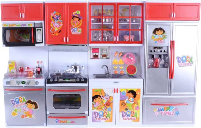 Be You Own Label Dora Big Kitchen Role Play Set For Kids