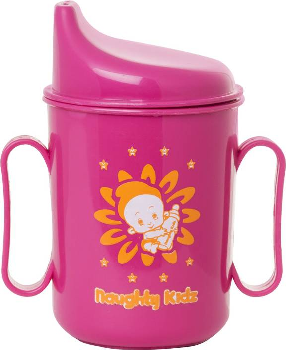 1ded66ef7 Naughty Kidz SIP AND SEAL SPILL PROOF 2 IN HANDY SIPPER WITH UNIQUE SPOUT  AND RING KEY TEETHER (Pink, Pink)