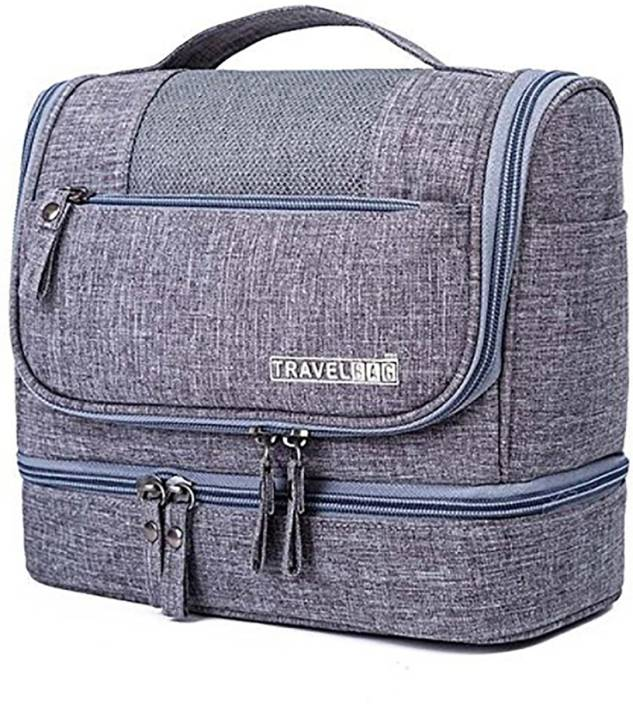 ShopyBucket Best Quality Multifunction Cosmetic Bag Women Makeup Bag Travel  Toiletry Bag Small Travel Bag - Large (Grey) 0dff8032e