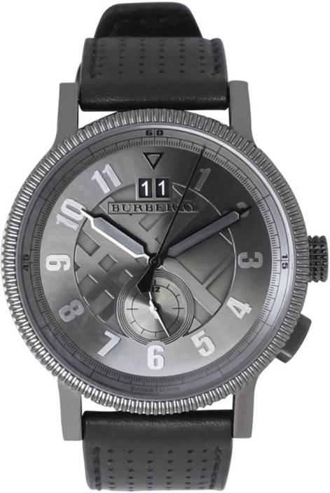 Burberry BU7682 Classic Grey Dial Black Leather Strap Watch - For Men - Buy  Burberry BU7682 Classic Grey Dial Black Leather Strap Watch - For Men  BU7682 ... bb4a6b822f1