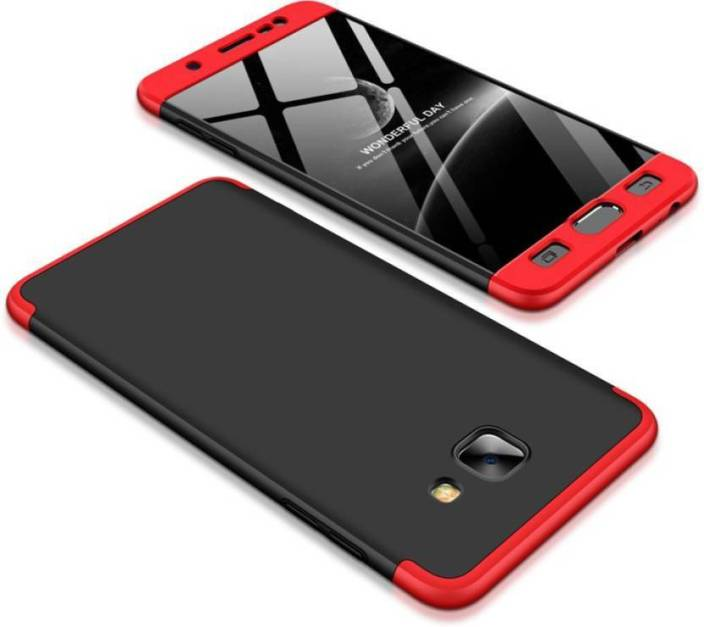 OPTEGIC Front & Back Case for GKK-Samsung Galaxy J7 Max (Gold, 32 GB) (4 GB RAM) (RED & BLACK, Dual Protection, Plastic)