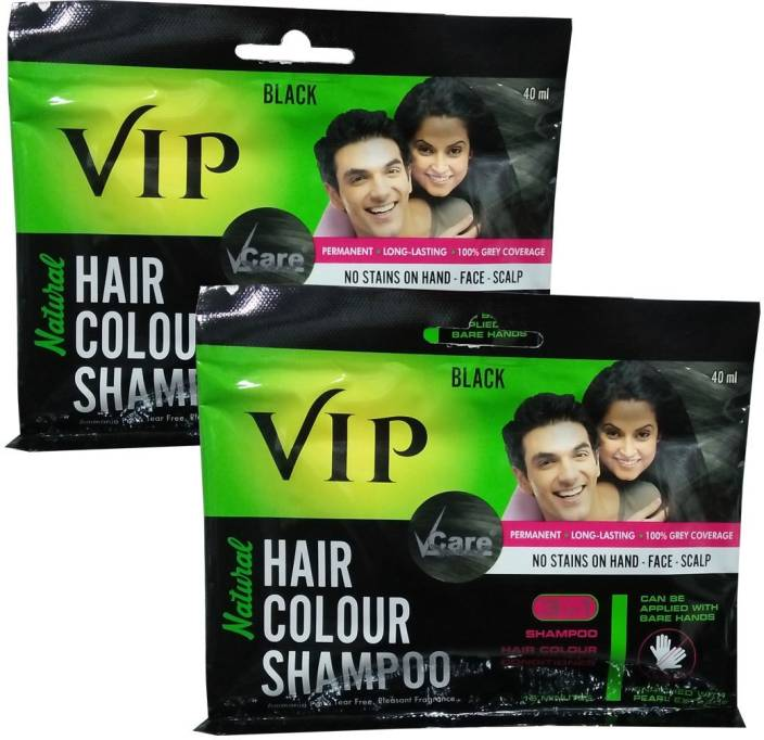 Vcare Vip Hair Colour Shampoo Pack Of 2 Hair Color Price In
