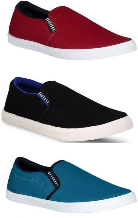 Adclicks Combo Pack Of 3 Loafers For Men