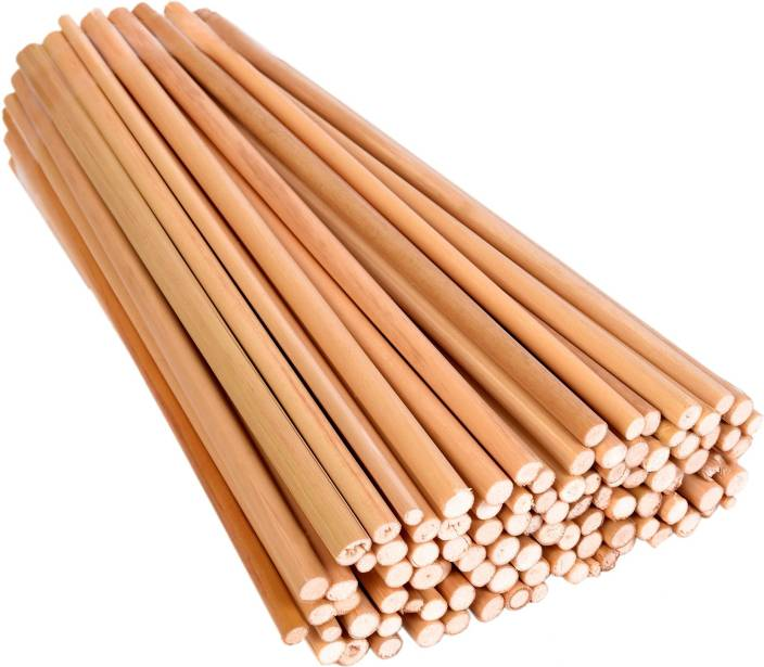 Vardhman Bamboo Sticks Extra Long 18 inches, Unfinished Sticks, Pack of 100, Used in Model Making,Art & Craft, ice Cream, kulfi Making etc
