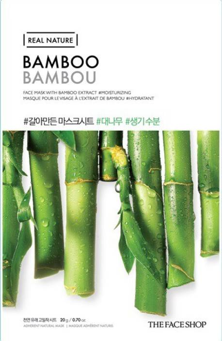 4233d183ab The Face Shop Unisex Real Nature Bamboo Face Mask (sheet mask) (20 g). 4.2.  71 Ratings   10 Reviews