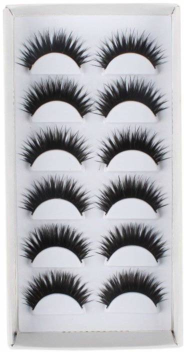 0694aa47d0f AGE CARE Soft Natural Thick Black Long False Eyelashes Extension Eye Makeup  set- 6 Pairs (Pack of 12)