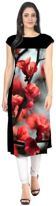 PAVITRA Women Floral Print Straight Kurta