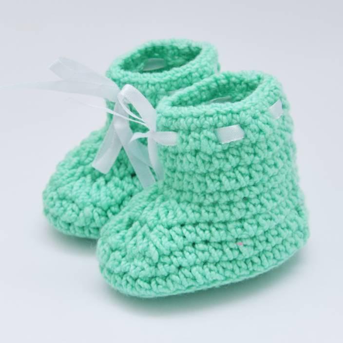 845b98fbeca32 Love Crochet Art Crochet baby girl knitted flower infant booties for ...