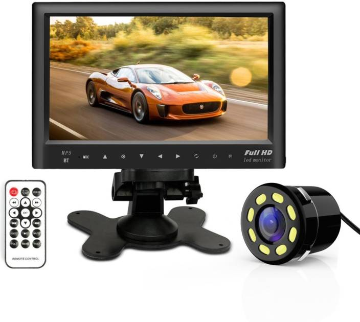 Woodman 7 inch HD Car Video Monitor for Dashboard with USB, Bluetooth &  Light Camera Black LED