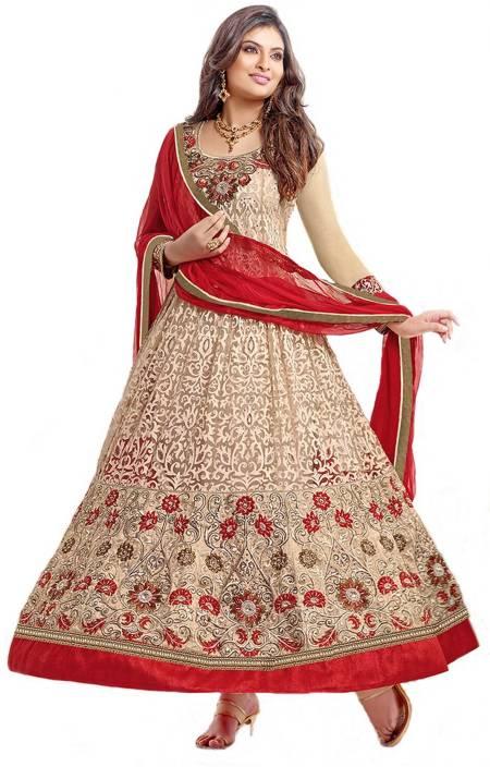 7f2badebcb FabTag - Anarkali Devagya Georgette Embroidered Semi-stitched Salwar Suit  Dupatta Material Price in India - Buy FabTag - Anarkali Devagya Georgette  ...