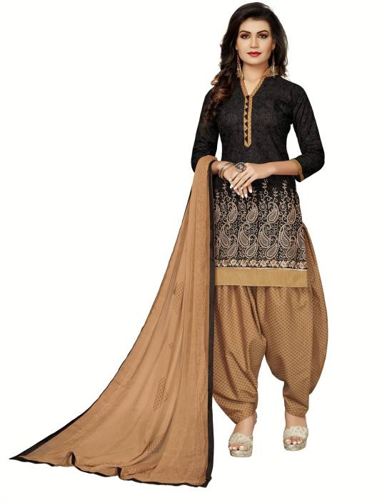 FabTag - Fashion Ritmo Cotton Printed Semi-stitched Salwar Suit Dupatta Material