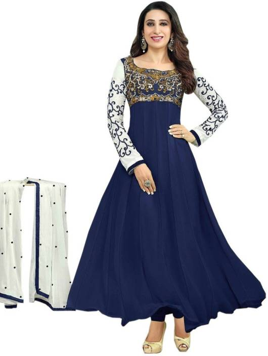 5db87dcd42 ... Suit Dupatta Material Price in India - Buy FabTag - Wholetex Georgette  Embroidered Semi-stitched Salwar Suit Dupatta Material online at  Flipkart.com