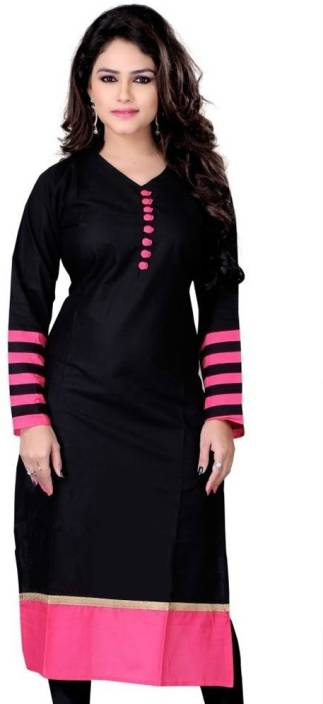 FabTag - The Style Story Women Solid Straight Kurta