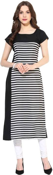 FabTag - Krapal Women Striped Straight Kurta