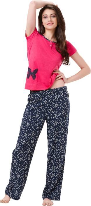 Mystere Paris Women s Printed Multicolor Top   Pyjama Set Price in ... fb68e26e4