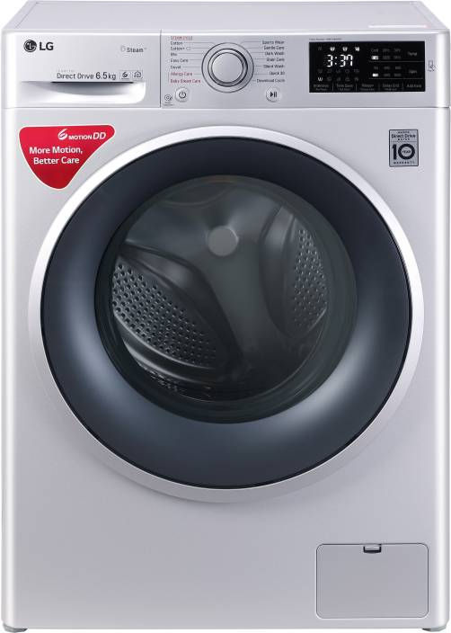 LG 6.5 kg Fully Automatic Front Load Washing Machine Silver (FHT1065SNL)
