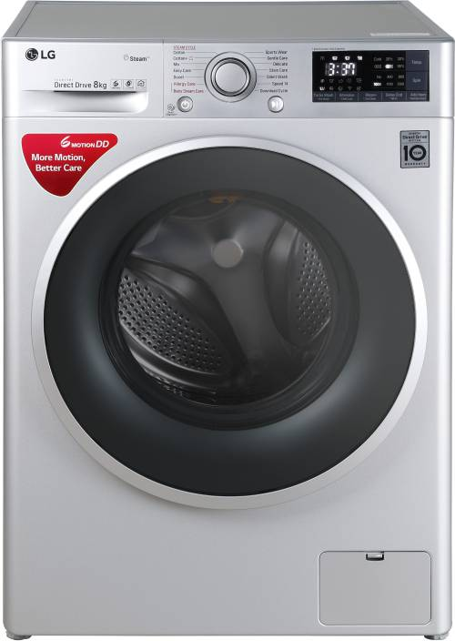 Lg 8 Kg Fully Automatic Front Load Washing Machine With Wifi Silver