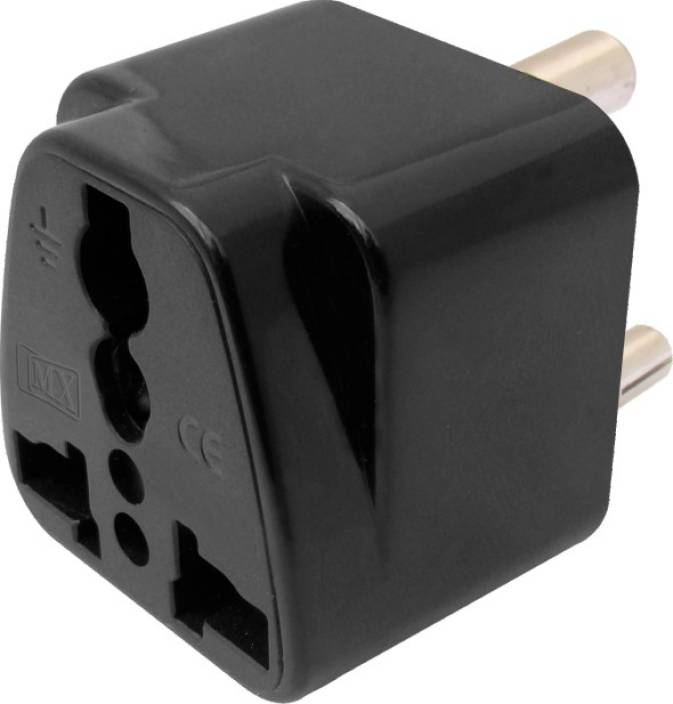 MX UNIVERSAL CONVERSION PLUG 3 PIN (5 AMPS) FOR INDIA & SOUTH AFRICA  Worldwide Adaptor